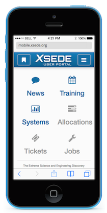 XSEDE Mobile User Portal