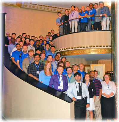 Student participants at XSEDE12 in Chicago.