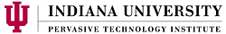 Pervasive Technology Institute, Indiana University logo.